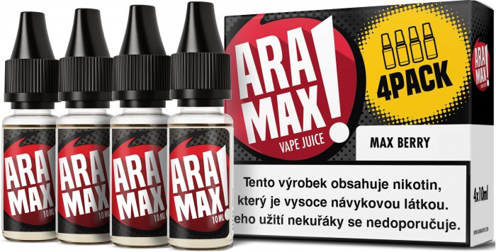 E-liquid ARAMAX 4Pack Max Berry 4x10ml-6mg