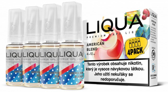 E-liquid LIQUA CZ Elements 4Pack American Blend 4x10ml-3mg
