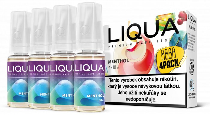 E-liquid LIQUA CZ Elements 4Pack Menthol 4x10ml-12mg