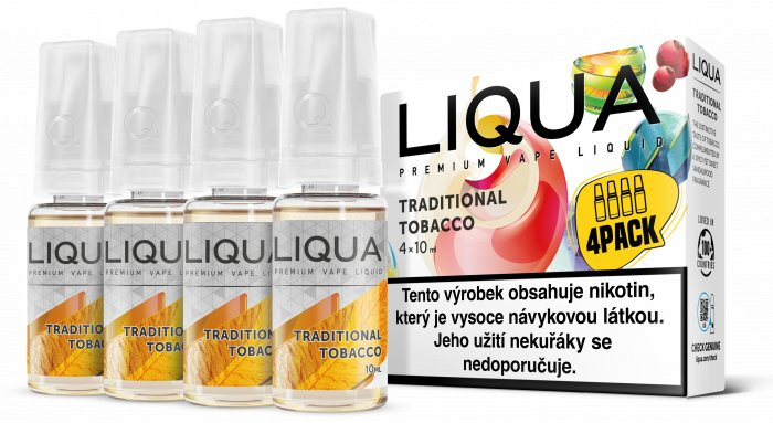 E-liquid LIQUA CZ Elements 4Pack Traditional tobacco 4x10ml-18mg