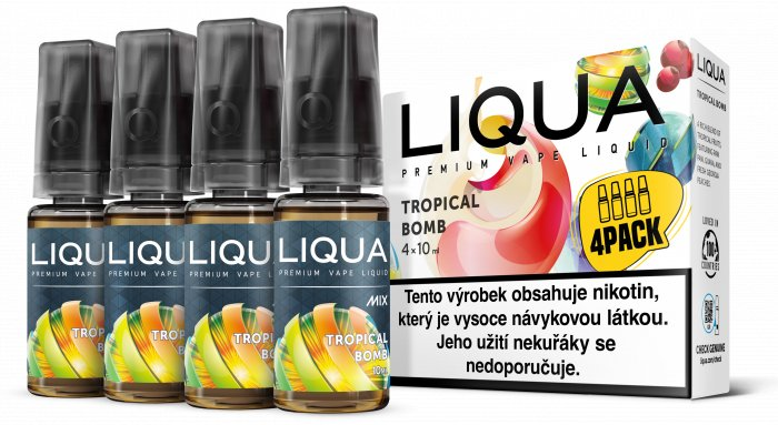 E-liquid LIQUA CZ MIX 4Pack Tropical Bomb 10ml-0mg