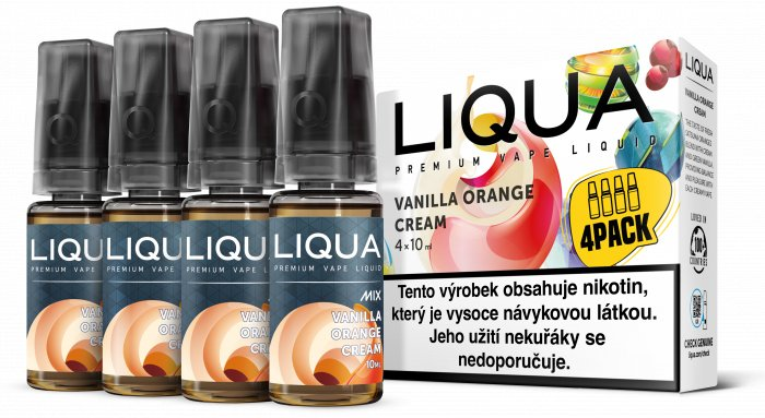 E-liquid LIQUA CZ MIX 4Pack Vanilla Orange Cream 10ml-0mg