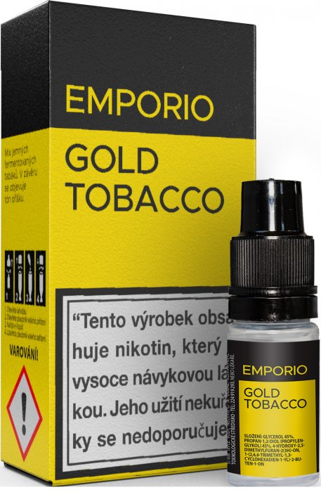 E-liquid EMPORIO Gold Tobacco 10ml - 18mg