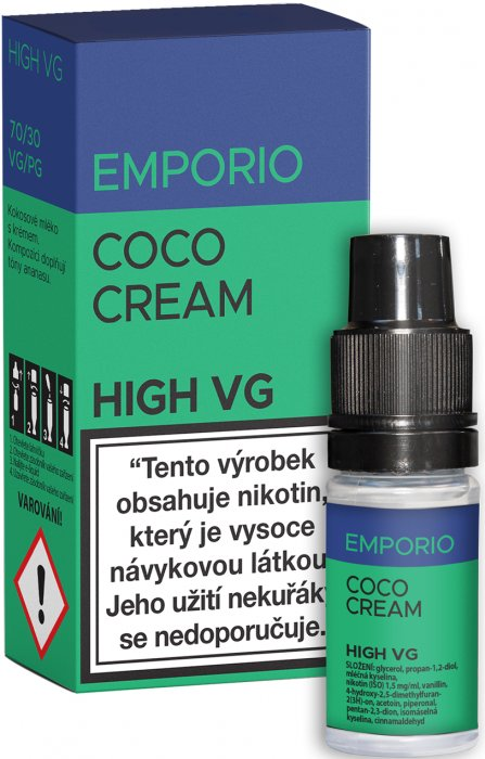E-liquid EMPORIO High VG Coco Cream 10ml - 1,5mg