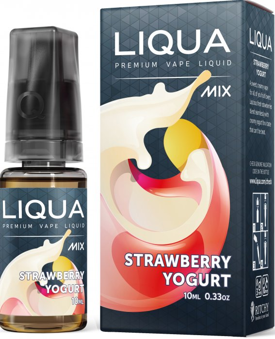 E-Liquid LIQUA MIX Strawberry Yogurt 10ml-18mg