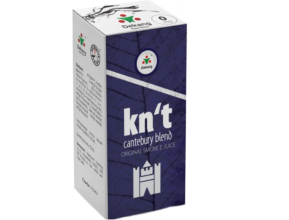 E-liquid Dekang Kn´t - cantebury blend 10ml - 6mg