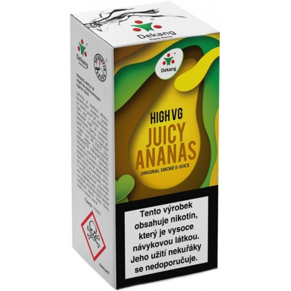 E-liquid Dekang High VG Juicy Ananas 10ml - 0mg
