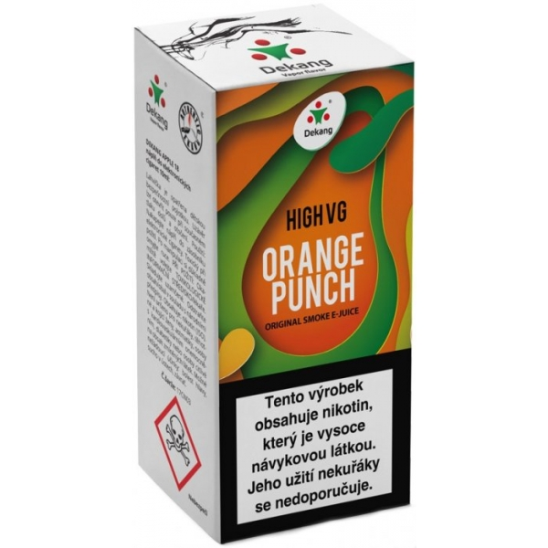 E-liquid Dekang High VG Orange Punch 10ml - 0mg (Sweet orange)