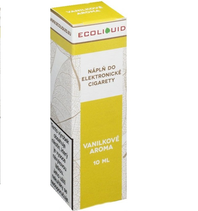 E-liquid Ecoliquid Vanilla 10ml - 0mg