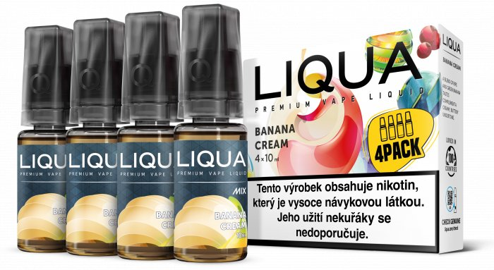 E-liquid LIQUA CZ MIX 4Pack Banana Cream 10ml-3mg