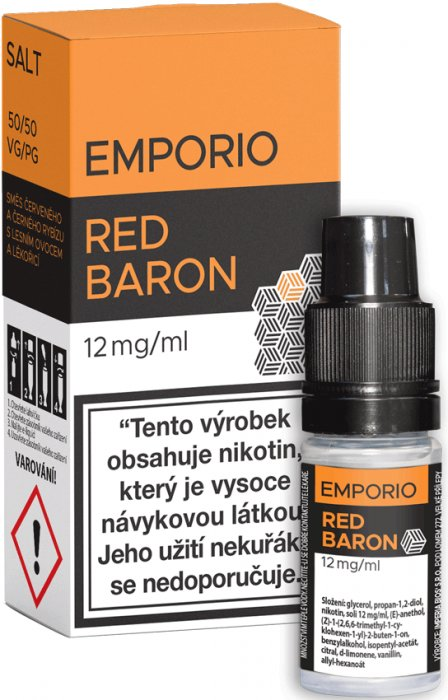 E-liquid EMPORIO SALT Red Baron 10ml - 12mg