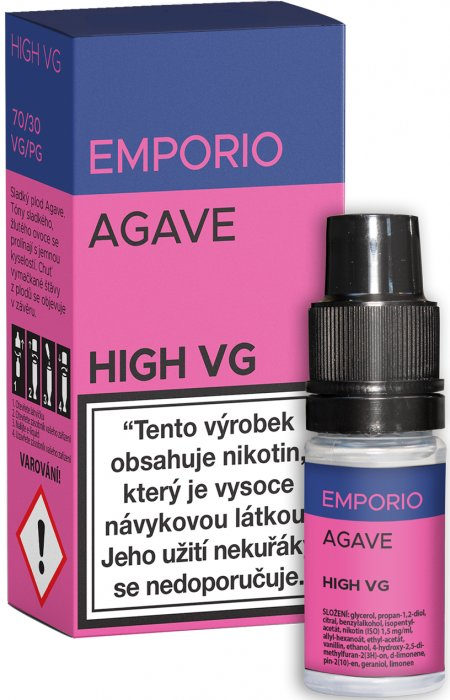 E-liquid EMPORIO High VG Agave 10ml - 0mg