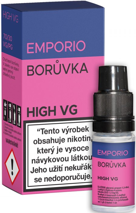 E-liquid EMPORIO High VG Blueberry 10ml - 0mg