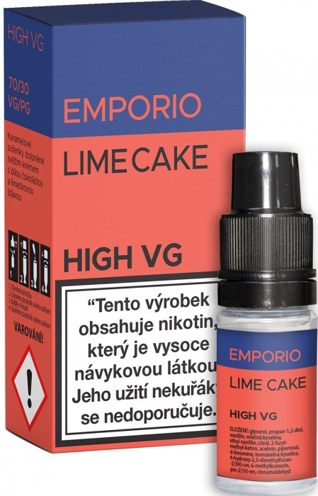 E-liquid EMPORIO High VG Lime Cake 10ml - 0mg