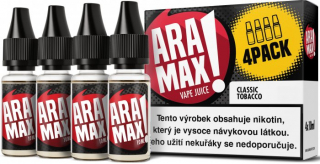 E-liquid ARAMAX 4Pack Classic Tobacco 4x10ml-6mg