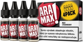 E-liquid ARAMAX 4Pack Max Strawberry 4x10ml-3mg