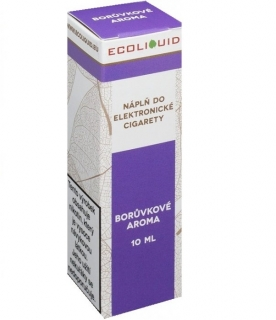 E-liquid Ecoliquid Blueberry 10ml - 0mg