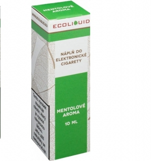 E-liquid Ecoliquid Menthol 10ml - 20mg