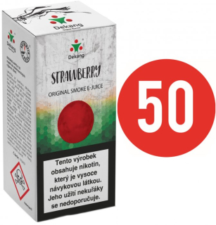 E-liquid Dekang Fifty Strawberry 10ml - 3mg